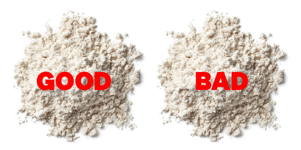 Good and Bad Powders separated into two different piles