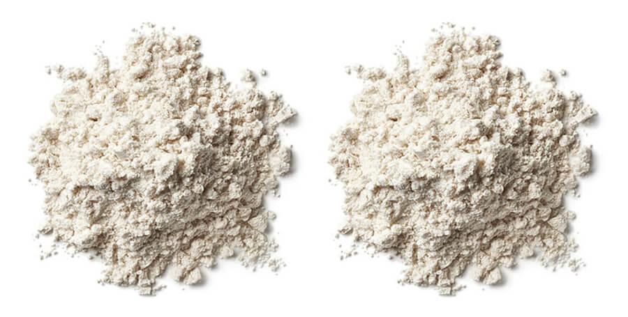 Gamlen Powder in two separate piles